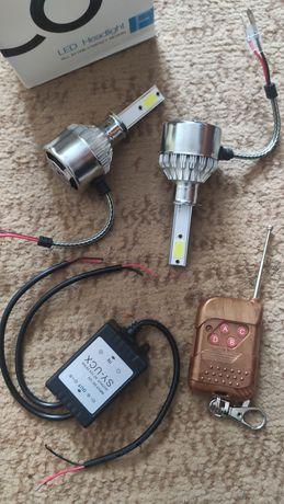 Лампы H4 Н7 Н1 пара дхо стробоскопы 16 режимов