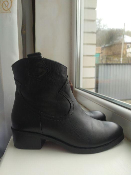 Кожаные женские демисезонные ботинки, размер 36 Лубны - изображение 1
