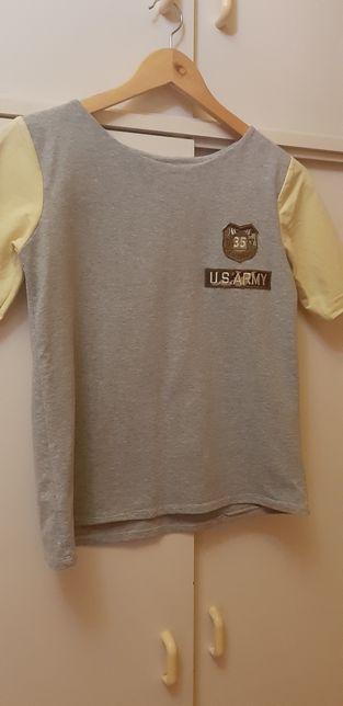 T-shirt dresowy US Army M/L