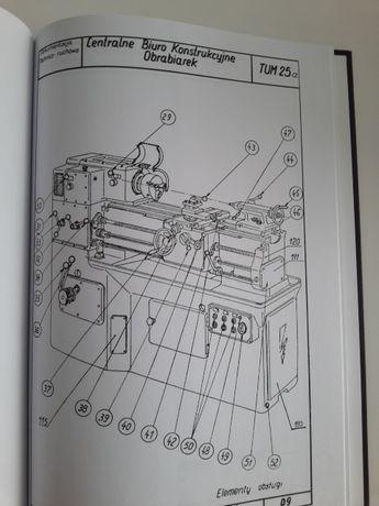 Tokarka TUM 25 A DTR Instrukcja obsługi