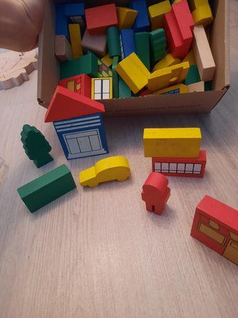Руль, деревянный конструктор, рыбки магнитные, липучки, шар, пазл куб