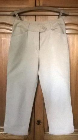 spodnie rybaczki, beżowe roz. 36