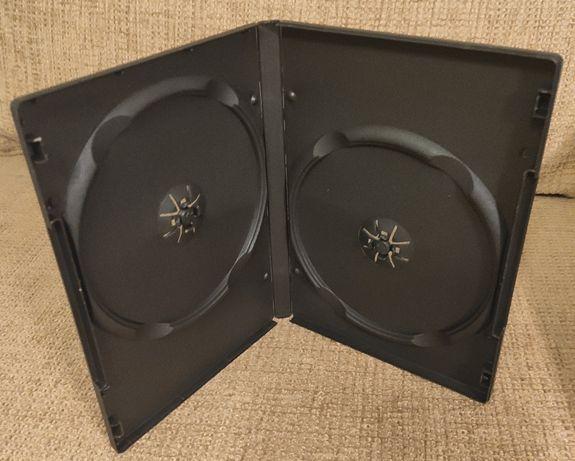 Pudełka na płyty CD/DVD podwójne nowe 90 sztuk