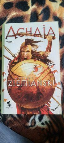 2 tomy książek Andrzej Ziemiański Achaja