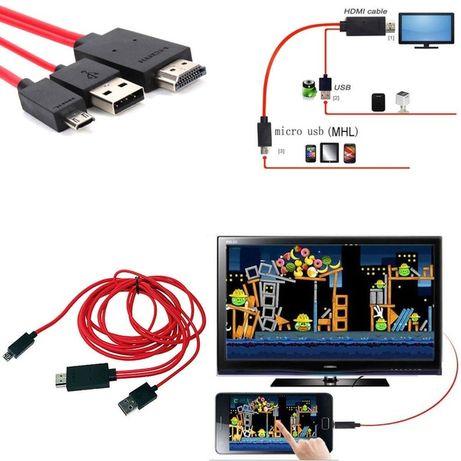 MHL Micro USB для HDMI 1080P HDTV кабельний адаптер