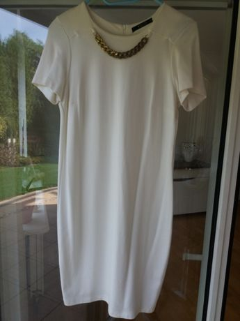 Sukienka damska biała MOHITO
