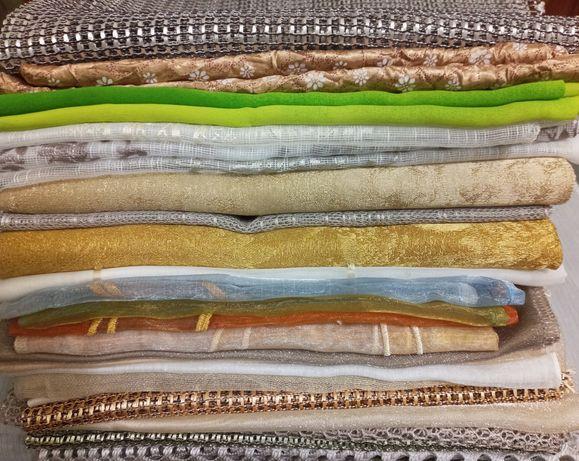 Отрезы, лоскуты ткани разной фактуры