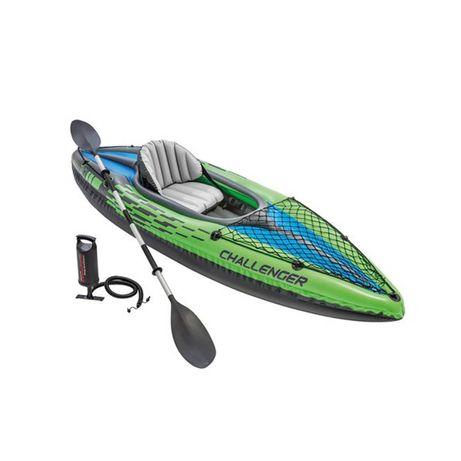 Kayak Insuflável Challenger K1 com 1 Remo Intex
