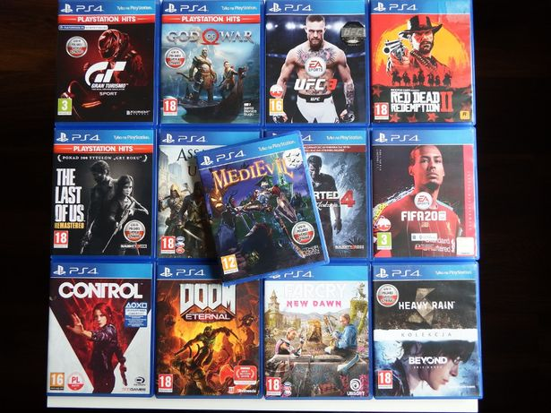 GRY PS4 Medievil RED DEAD 2 UFC 3 God Of War Gran Turismo Last Of Us
