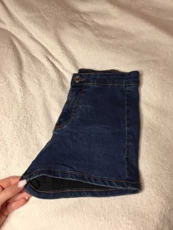 Шорти джинсові на високій посадці джынсовые шорты
