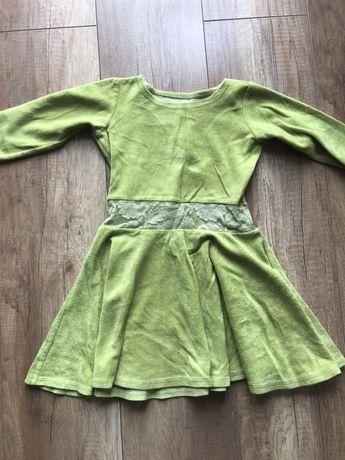 Sukienka piękna  sukieneczka 4/5 lat seledynowa