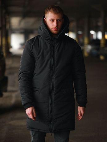 Крутейшая Мужская зимняя куртка,пуховик,теплая парка Оллблек на меху