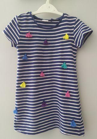 Sukienka next z kolorowymi pomponikami, rozmiar 92