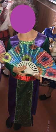 Карнавальній костюм гейши китаянки блестящий японки