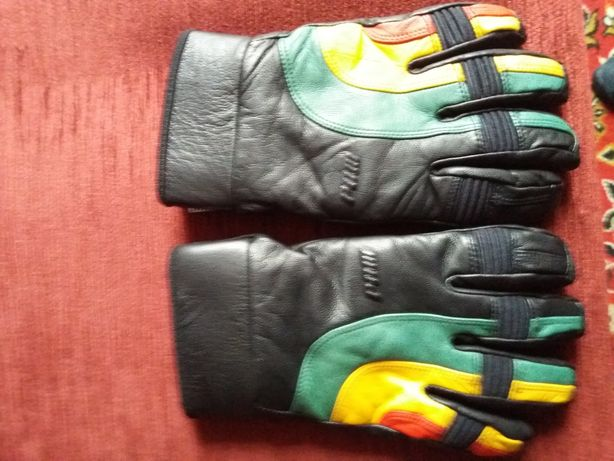 Rękawice zimowe skórzane.
