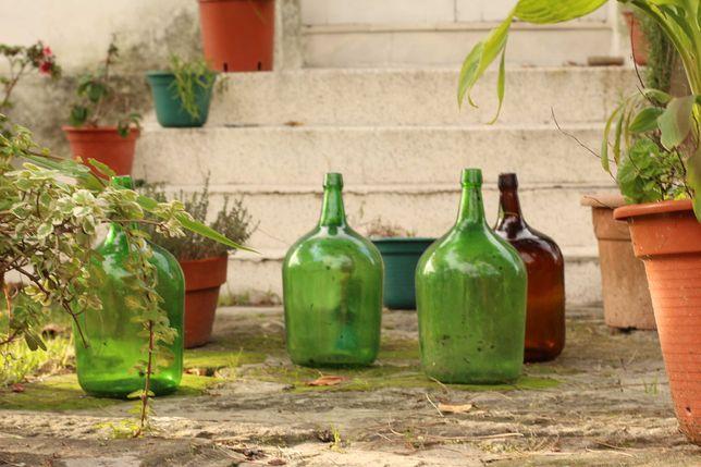 Garrafões de vidro para decoração