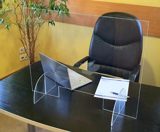 Osłona na biurko ladę recepcja kosmetyczka antywirus BHP