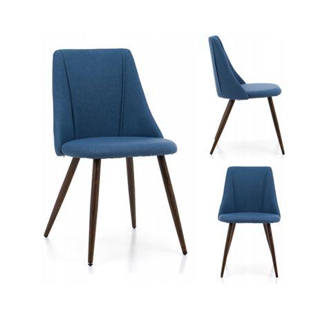 Krzesło tapicerowane tkanina sawana SK46