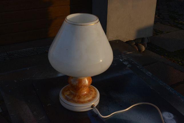 lampa biurkowa porcelanowa PRL