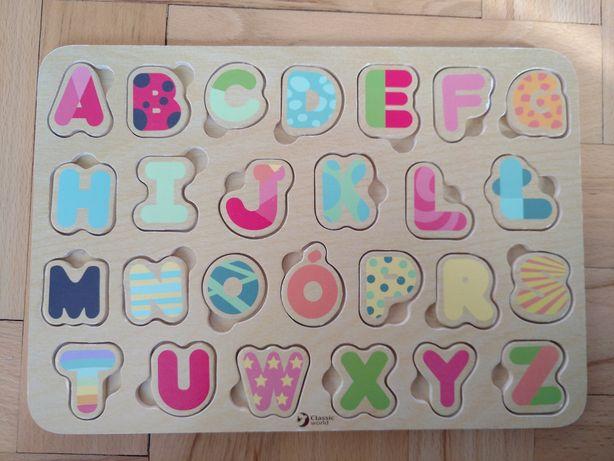 Alfabet drewniany