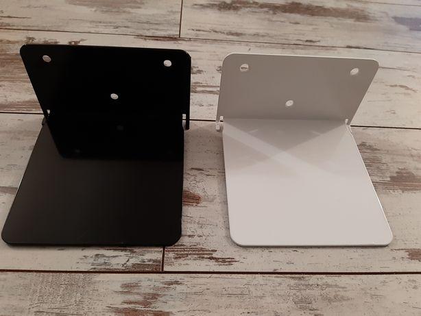 2 niewidzialne półki na książki, nowe, biała i czarna