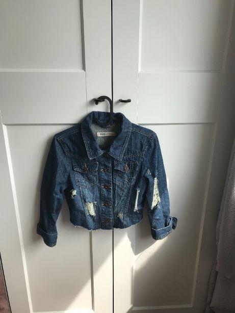 kurtka jeansowa z dziurami