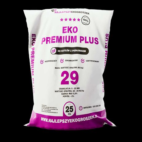 Ekogroszek Premium Plus 29 MJ/kg eko-groszek Popiół: max 2-5%