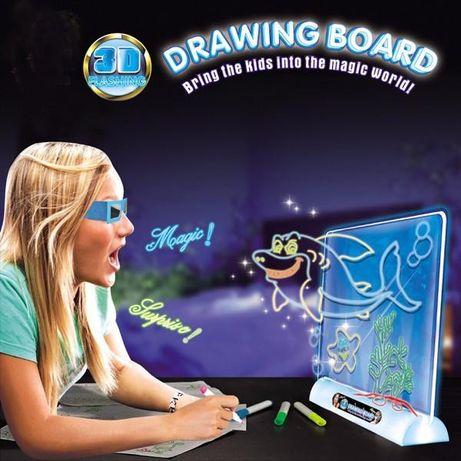 Магическая 3D Доска планшет для рисования Magic Drawing Board