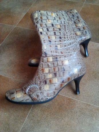 Сапоги кожаные сапожки осенние весенние ботинки демисезонные