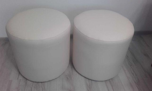 Pufki okrągłe dwie sztuki