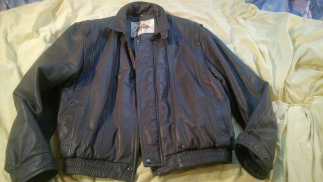 Кожаная куртка NIKO,Корея,р.48,светло-серая,утепленная,мягкая,отл.сост