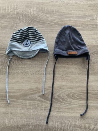 Zestaw 2 Bawełniane lekkie czapeczki r. 48/50 z 51015 i Cool Club Smyk