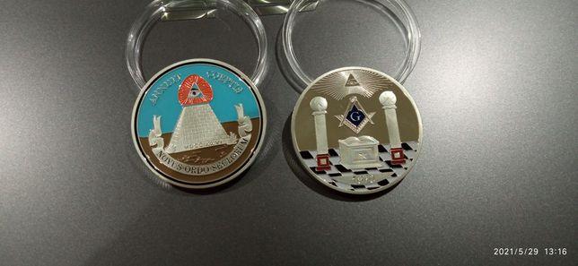 Монета масонская