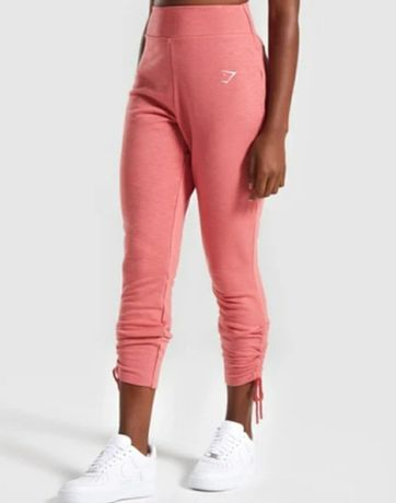 Gymshark spodnie dresowe joggery treningowe ruched joggers r. S nowe