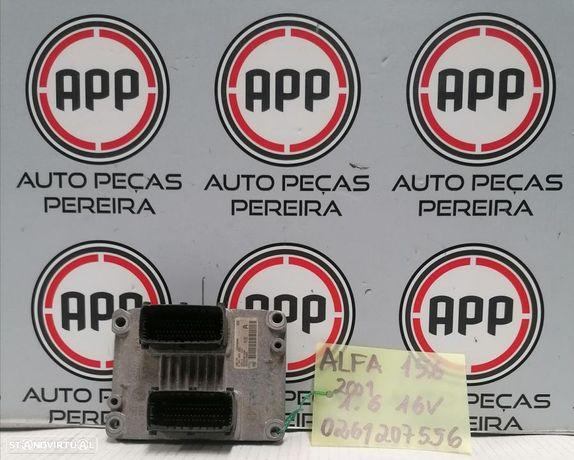 Centralina motor Alfa Romeu 156 1.6 16V referência 0261207556.