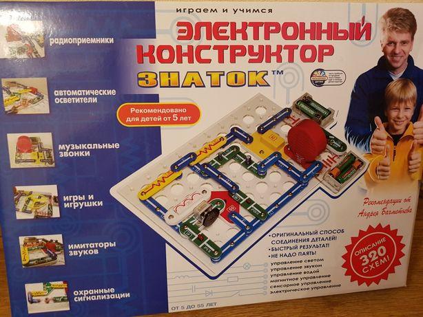 Знаток конструктор 320 схем электронный оригинал новый Znatok