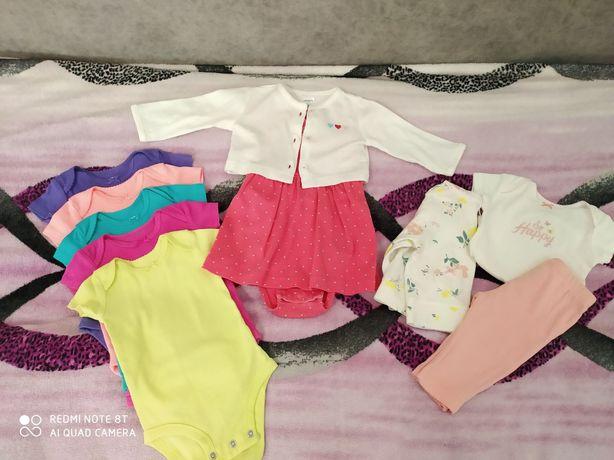 Пакет одягу для дівчинки картерс, 0-3 місяці...