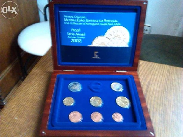 Moeda série anual 2002 proof (1.as moedas euro)