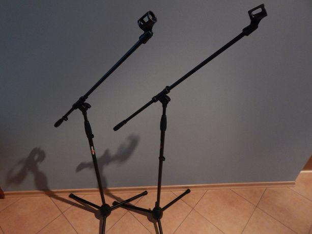 Statywy mikrofonowe jak nowe. 2 sztuki. Oraz nagłośnienie oświetlenie