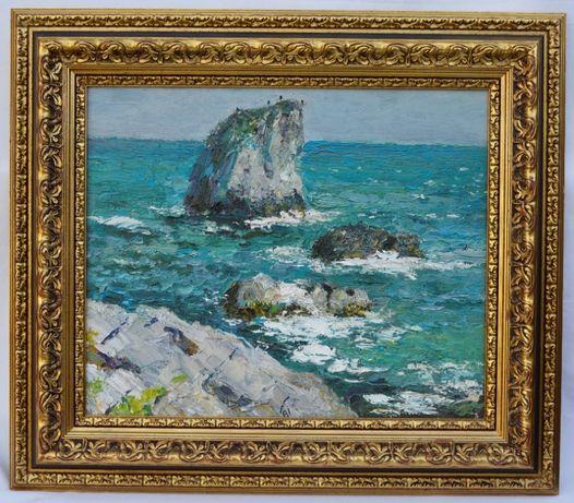 """Картина художник Гурін В. І. """"Кримскі скелі"""" 2005 р. Полотно, олія"""