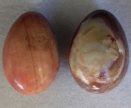 Ovos de pedra natural ágata