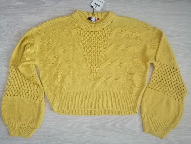 Укороченный ажурный свитер кофта от Jennyfer