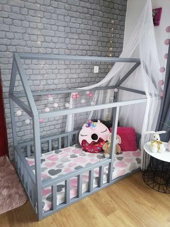 Łóżeczko dla dziecka łóżko dziecięce domek 160x80 ze stelażem  wysyłka