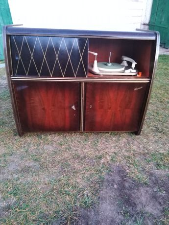 Antyk półka z gramofonem