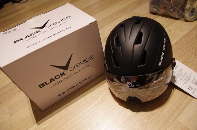 Black Crevice kask z szybą narciarski snowboard nowy 61-62 sklep 550z