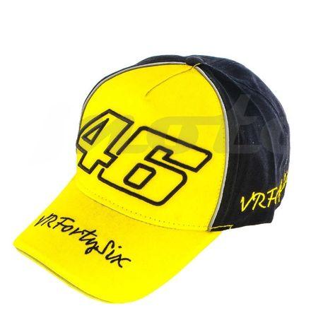 Бейсболка Валентино Росси 46 жёлто -чёрная
