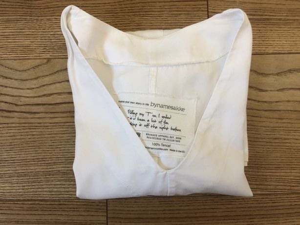 Bynamesakke tencel S biała bluzka stan bdb