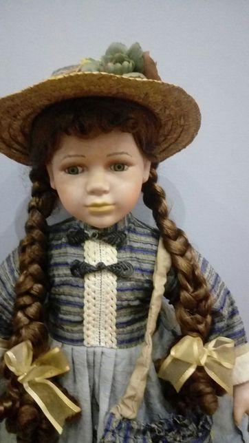 Kolekcjonerska lalka porcelanowa sygnowana 70 cm