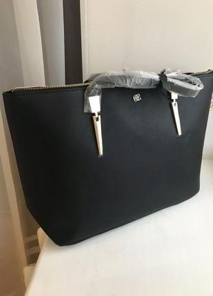 Чорна сумка шопер