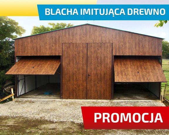Garaż blaszany 7x6m z Dwoma Bramami , oknami , i możliwośćią PÓŁPIĘTRA